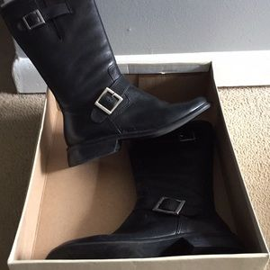 Matisse leather moto buckle boot black